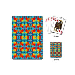 Pop Art Abstract Design Pattern Playing Cards (Mini)