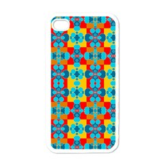 Pop Art Abstract Design Pattern Apple iPhone 4 Case (White)