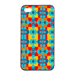 Pop Art Abstract Design Pattern Apple iPhone 4/4s Seamless Case (Black)