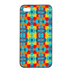 Pop Art Abstract Design Pattern Apple iPhone 4/4s Seamless Case (Black)
