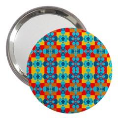 Pop Art Abstract Design Pattern 3  Handbag Mirrors