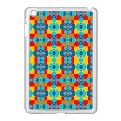 Pop Art Abstract Design Pattern Apple iPad Mini Case (White)