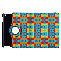 Pop Art Abstract Design Pattern Apple iPad 3/4 Flip 360 Case