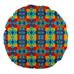 Pop Art Abstract Design Pattern Large 18  Premium Round Cushions