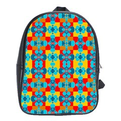 Pop Art Abstract Design Pattern School Bags (XL)