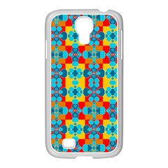 Pop Art Abstract Design Pattern Samsung GALAXY S4 I9500/ I9505 Case (White)