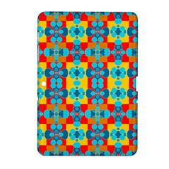 Pop Art Abstract Design Pattern Samsung Galaxy Tab 2 (10.1 ) P5100 Hardshell Case