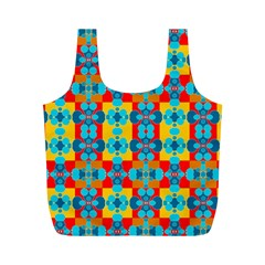 Pop Art Abstract Design Pattern Full Print Recycle Bags (M)