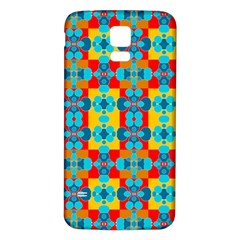 Pop Art Abstract Design Pattern Samsung Galaxy S5 Back Case (White)