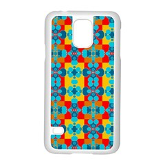 Pop Art Abstract Design Pattern Samsung Galaxy S5 Case (White)