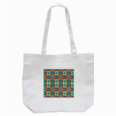 Pop Art Abstract Design Pattern Tote Bag (White)