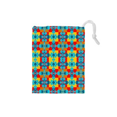 Pop Art Abstract Design Pattern Drawstring Pouches (Small)