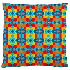 Pop Art Abstract Design Pattern Large Flano Cushion Case (One Side)