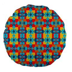 Pop Art Abstract Design Pattern Large 18  Premium Flano Round Cushions