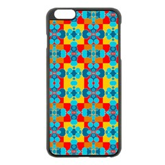 Pop Art Abstract Design Pattern Apple iPhone 6 Plus/6S Plus Black Enamel Case