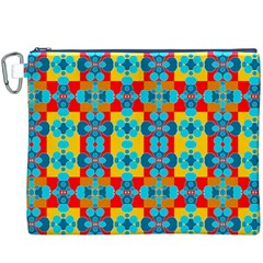Pop Art Abstract Design Pattern Canvas Cosmetic Bag (XXXL)