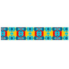 Pop Art Abstract Design Pattern Flano Scarf (Large)