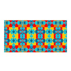 Pop Art Abstract Design Pattern Satin Wrap