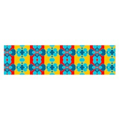 Pop Art Abstract Design Pattern Satin Scarf (Oblong)