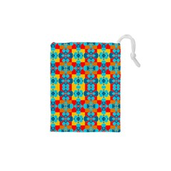 Pop Art Abstract Design Pattern Drawstring Pouches (XS)