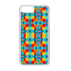 Pop Art Abstract Design Pattern Apple iPhone 7 Plus White Seamless Case