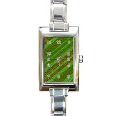 Stripes Course Texture Background Rectangle Italian Charm Watch