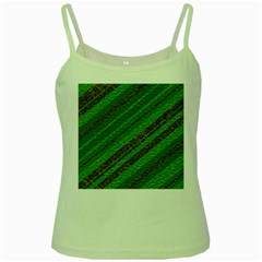 Stripes Course Texture Background Green Spaghetti Tank