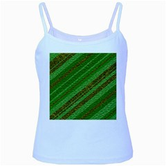 Stripes Course Texture Background Baby Blue Spaghetti Tank