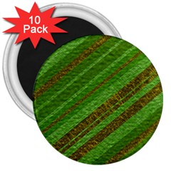 Stripes Course Texture Background 3  Magnets (10 pack)