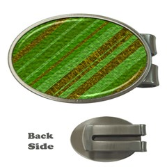 Stripes Course Texture Background Money Clips (Oval)