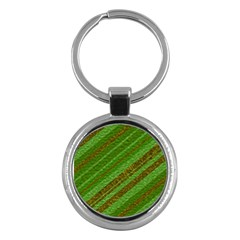 Stripes Course Texture Background Key Chains (Round)