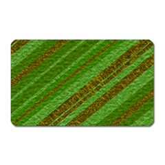 Stripes Course Texture Background Magnet (Rectangular)