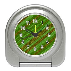 Stripes Course Texture Background Travel Alarm Clocks
