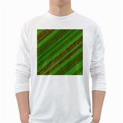 Stripes Course Texture Background White Long Sleeve T-Shirts