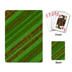 Stripes Course Texture Background Playing Card