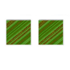 Stripes Course Texture Background Cufflinks (Square)