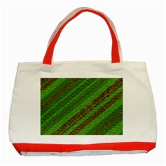 Stripes Course Texture Background Classic Tote Bag (Red)