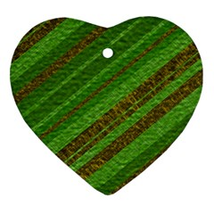 Stripes Course Texture Background Heart Ornament (2 Sides)