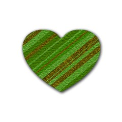 Stripes Course Texture Background Rubber Coaster (Heart)