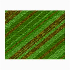 Stripes Course Texture Background Small Glasses Cloth (2-Side)
