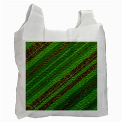 Stripes Course Texture Background Recycle Bag (Two Side)