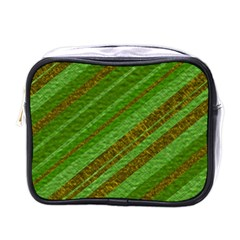 Stripes Course Texture Background Mini Toiletries Bags