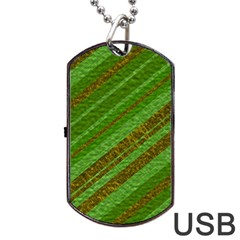 Stripes Course Texture Background Dog Tag USB Flash (One Side)