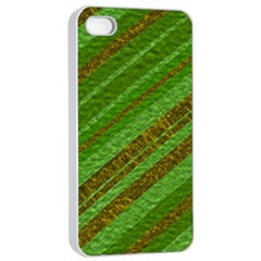 Stripes Course Texture Background Apple iPhone 4/4s Seamless Case (White)