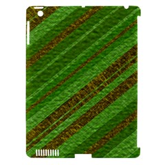 Stripes Course Texture Background Apple iPad 3/4 Hardshell Case (Compatible with Smart Cover)