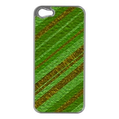 Stripes Course Texture Background Apple iPhone 5 Case (Silver)
