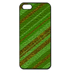 Stripes Course Texture Background Apple iPhone 5 Seamless Case (Black)