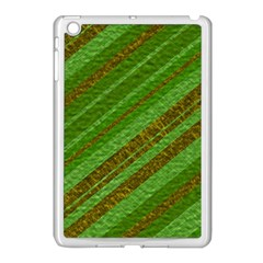 Stripes Course Texture Background Apple iPad Mini Case (White)