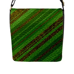 Stripes Course Texture Background Flap Messenger Bag (L)