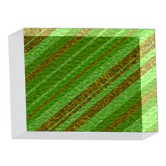 Stripes Course Texture Background 5 x 7  Acrylic Photo Blocks